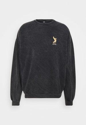 CREW WASHED LION  - Sweatshirt - black