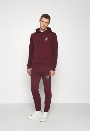 SET - Sweat à capuche - bordeaux