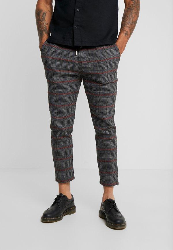 Only & Sons ONSLINUS CHECK PANT - Spodnie materiałowe - griffin/ciemnoszary melanż Odzież Męska GAYI