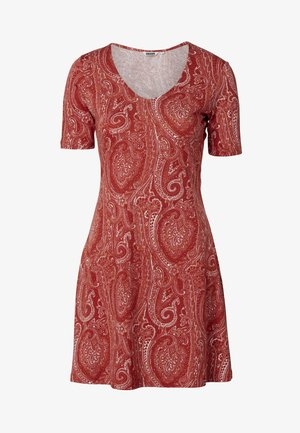 DRESS CLAIRE - Jersey dress - red