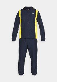 Lacoste Sport - TRACKSUIT HOODED - Verryttelypuku - navy blue/broom white - 7