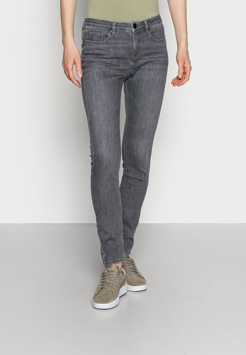 Opus - ELMA SMOKE GREY - Jeans Skinny Fit - smoke grey