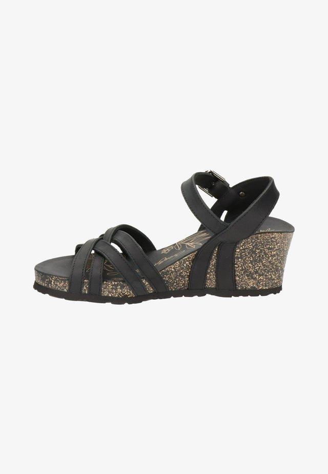 Sandalias con plataforma - zwart