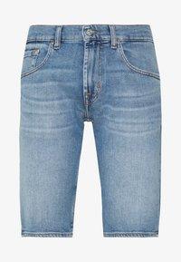 7 for all mankind - REGULAR HEMET - Denim shorts - light blue - 4