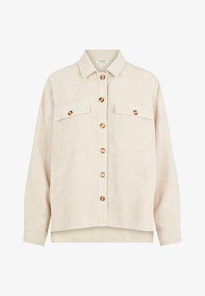 Button-down blouse - white pepper