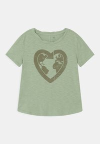 GAP - GIRL GREEN LABEL TEE - Print T-shirt - green ash - 0