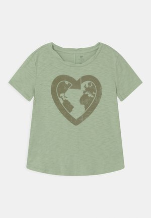 GIRL GREEN LABEL TEE - Triko s potiskem - green ash