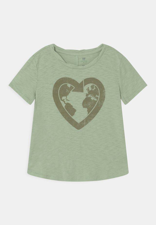 GIRL GREEN LABEL TEE - T-shirt med print - green ash