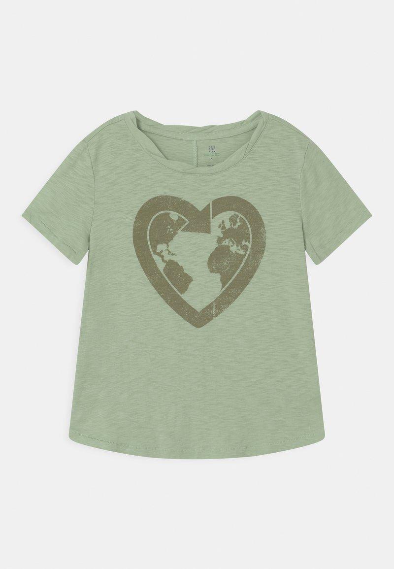 GAP - GIRL GREEN LABEL TEE - Print T-shirt - green ash