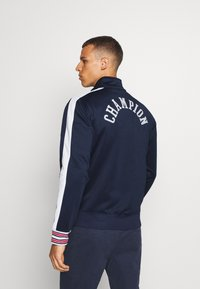 Champion - ROCHESTER RETRO BASKET FULL ZIP - Träningsjacka - dark blue/white