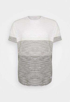 TEE - T-shirt med print - egret