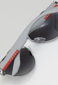 Prada Linea Rossa - Sunglasses - dark grey metal rubber - 4