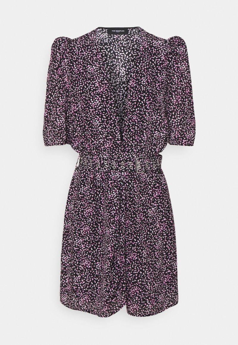 The Kooples - DRESS - Denní šaty - black/pink