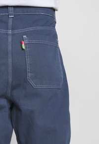 Kickers Classics - DRILL TROUSERS WITH TOPSTITCH - Tygbyxor - navy - 5