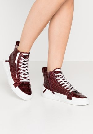 BASE - High-top trainers - merlot/bianco