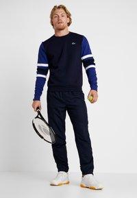 Lacoste Sport - SWEATER - Sweatshirt - navy blue/ocean/white - 1