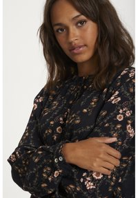 Kaffe - KAJUSTINA PPP - Bluser - black - brown flower print - 3