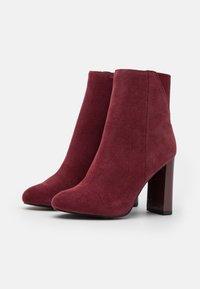 River Island - Kotníková obuv na vysokém podpatku - red dark - 2