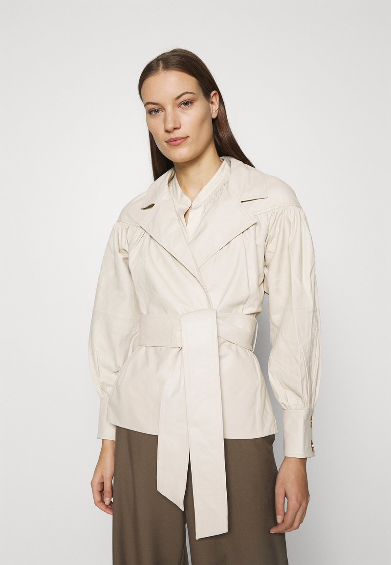 DAY Birger et Mikkelsen - DAY GROW - Leather jacket - ivory