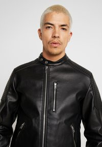 Jack & Jones - JCODERRICK  - Faux leather jacket - black - 3