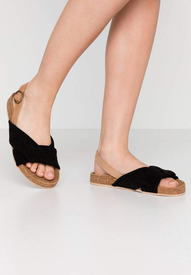 WIDE FIT BERMUDA - Sandals - black