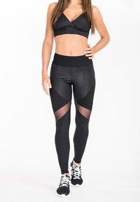 Zoe Leggings - SHADOW LEOPARD - Leggings - black - 0