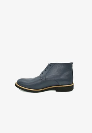 HAND-MADE GENUINE COMFORT  - Lace-up ankle boots - deep blue