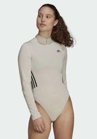 adidas Performance - Leotard - mottled beige - 0