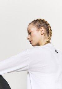 adidas Performance - Topper langermet - white/black - 4
