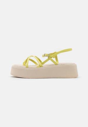 COURTNEY - T-bar sandals - lemon