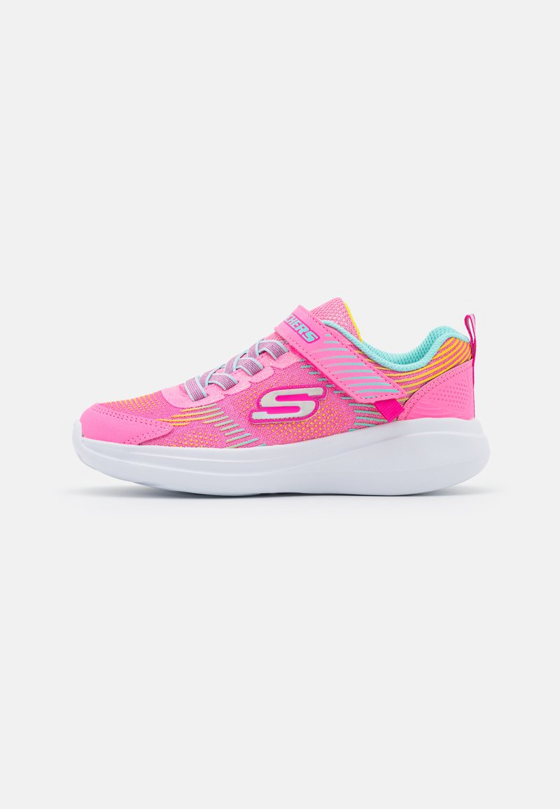 Skechers Performance - GO RUN FAST NEON JAMS UNISEX - Neutral running shoes - pink/multicolor