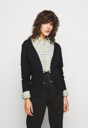 CARDIGAN LONG SLEEVE - Chaqueta de punto - black heather