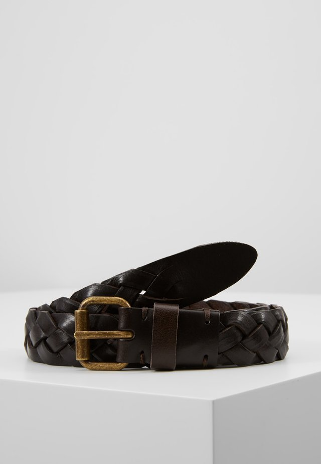 LADIES - Braided belt - brown