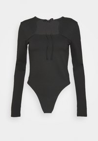 CUT OUT LONG SLEEVE  - Long sleeved top - black