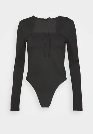 CUT OUT LONG SLEEVE  - Body - black
