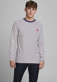 Jack & Jones - JJELONG  - Long sleeved top - cloud dancer - 0