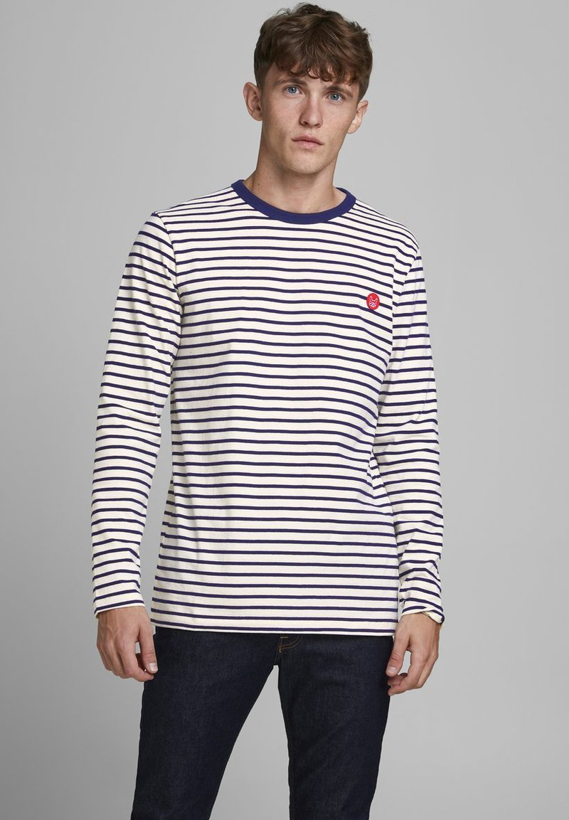 Jack & Jones - JJELONG  - Long sleeved top - cloud dancer