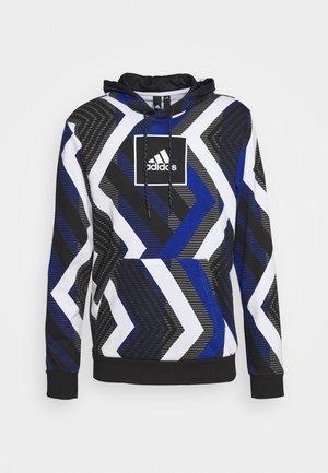 HOODIE - Bluza z kapturem - white/royal blue/grey four/black