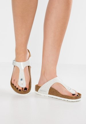 GIZEH - T-bar sandals - magic white