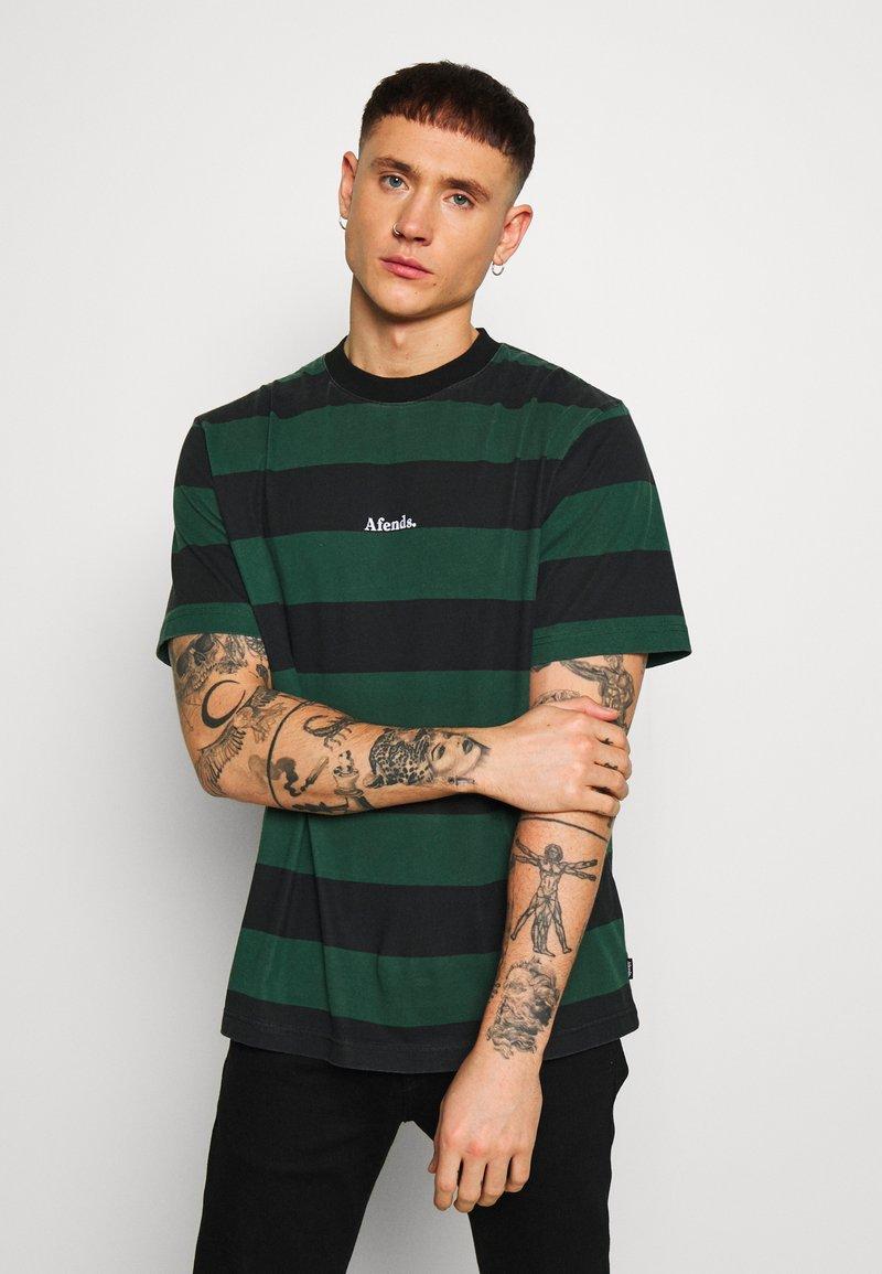Afends - IN BLOOM RETRO FIT TEE - T-shirt print - black