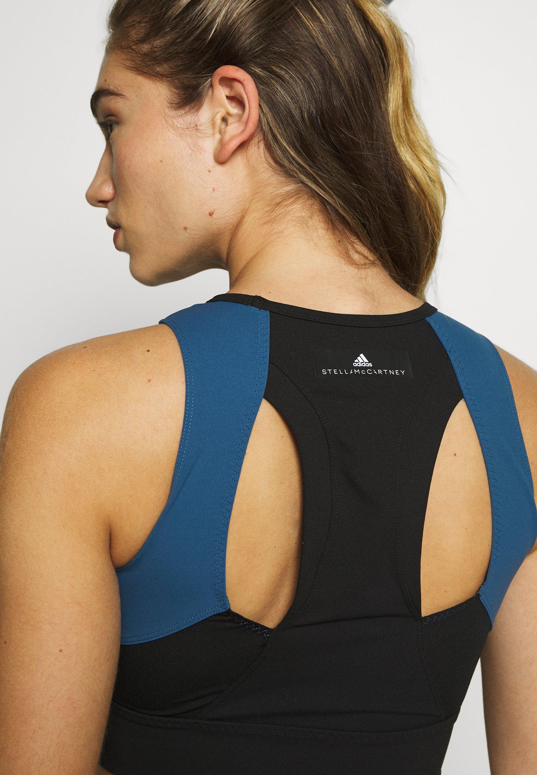 Adidas By Stella Mccartney Run Crop - Sports Shirt Black/visblu