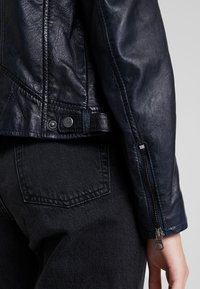 Gipsy - ANGY LAMAS - Leather jacket - dark navy - 5