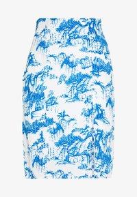 YASJOSEFINE PENCIL SKIRT - A-line skirt - eggnog/mazerine blue