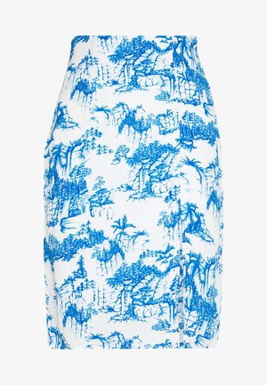 YASJOSEFINE PENCIL SKIRT - A-lijn rok - eggnog/mazerine blue