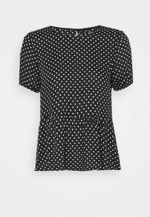 VMFIE - T-shirt con stampa - black/birch