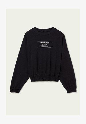 MIT SCHRIFTZUG - Sweatshirt - nero st.risk