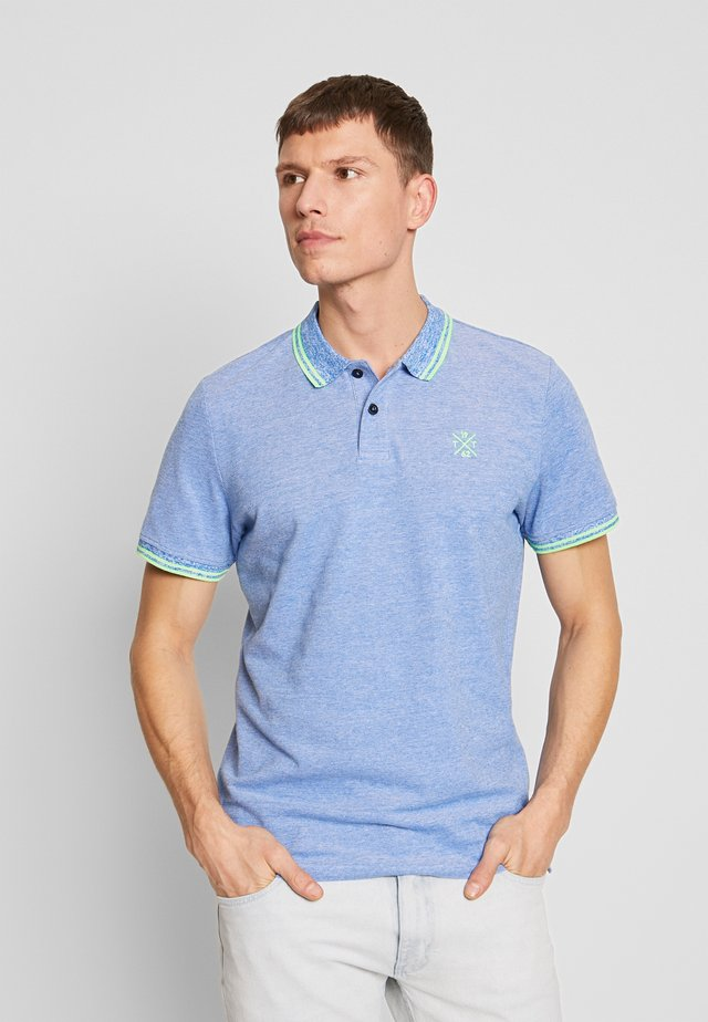 TWO-TONE TIPPING POLO - Polo - blue