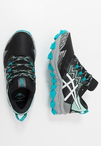 ASICS - GEL-FUJITRABUCO 8 G-TX - Chaussures de running - fresh ice/white - 1