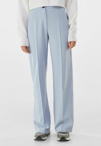 WIDE LEG - Trousers - light blue