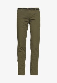 Scotch & Soda - WITH BELT - Chinos - military - 3